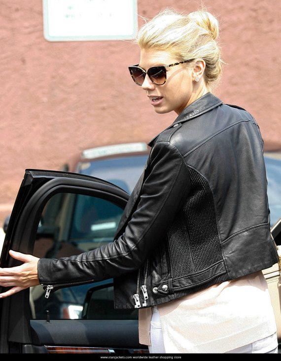 American Model Charlotte McKinney Leather Jackets
