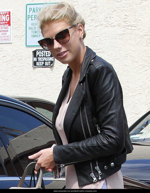 American Model Charlotte McKinney Women Leather Jackets