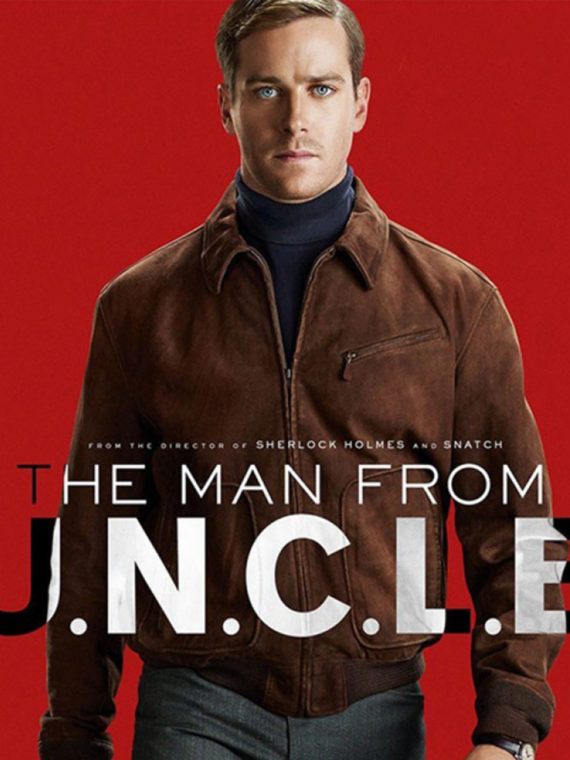 Armie Hammer The Man From UNCLE Brown Jacket