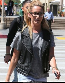 Ashley Tisdale Trendy Black Vest