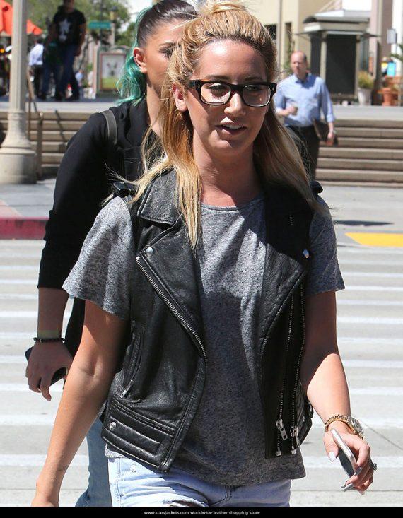 Ashley Tisdale Trendy Black Vest