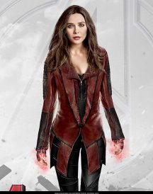 Avengers Captain America Civil War Scarlet Witch Red Costume Coats
