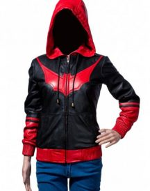 Batwoman Katherine Kane Hoodie Leather Jacket