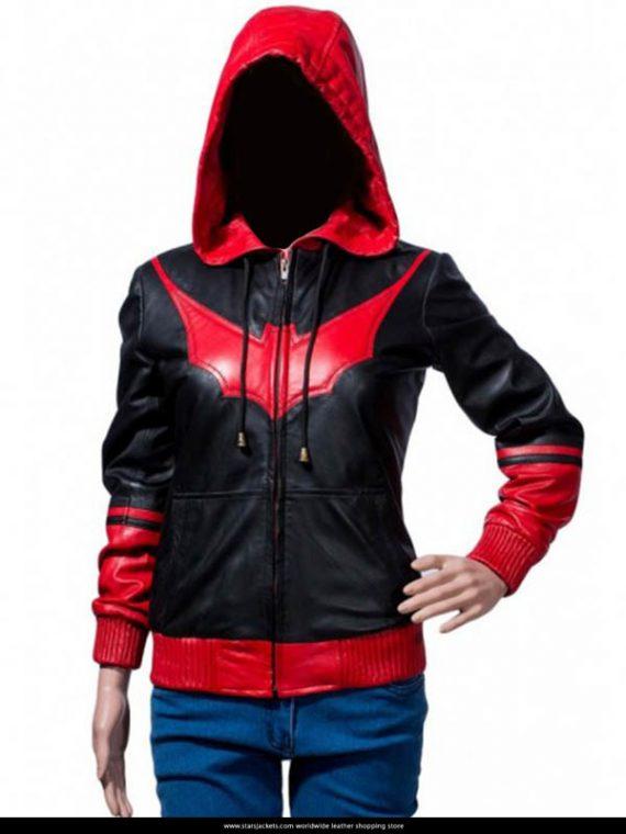 Batwoman Katherine Kane Hoodie Leather Jacket