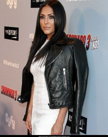 Beautiful Cassie Scerbo Black Leather Jacket