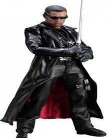 Blade Wesley Snipes Black Leather Coat