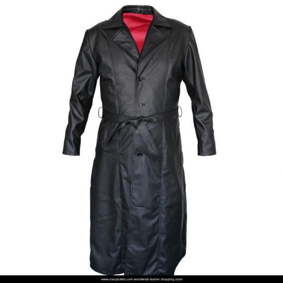 Blade Wesley Snipes Trench Black Leather Coat