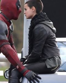 Brianna Hildebrand Deadpool 2016 Black Jacket