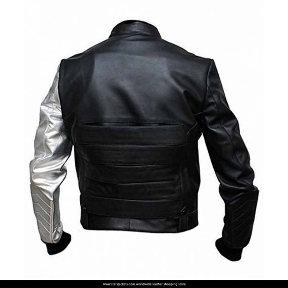 Bucky Barnes Winter Soldier Jackets With Silver Sleeve