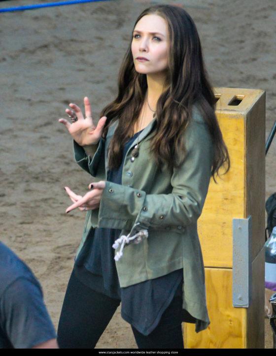 Captain America Civil War Elizabeth Olsen Scarlet Witch Jacket