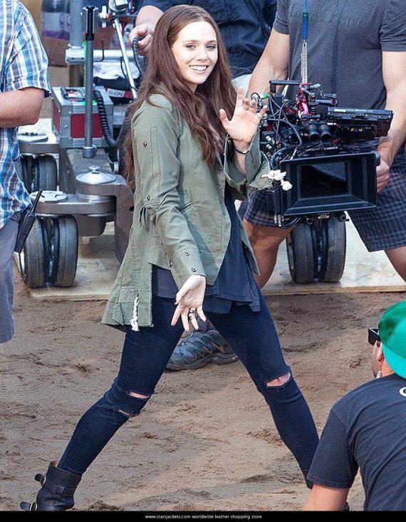 Captain America Civil War Elizabeth Olsen Scarlet Witch Jackets