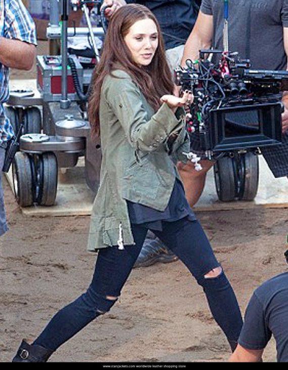 Captain America Civil War Elizabeth Olsen Scarlet Witch Women Jacket