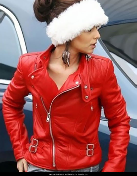 Cheryl Cole Santa Claus Inspired Red Jacket
