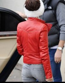 Cheryl Cole Santa Claus Inspired Red Jackets