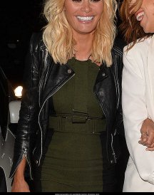 Chloe Sims Wears a Leather Jackets