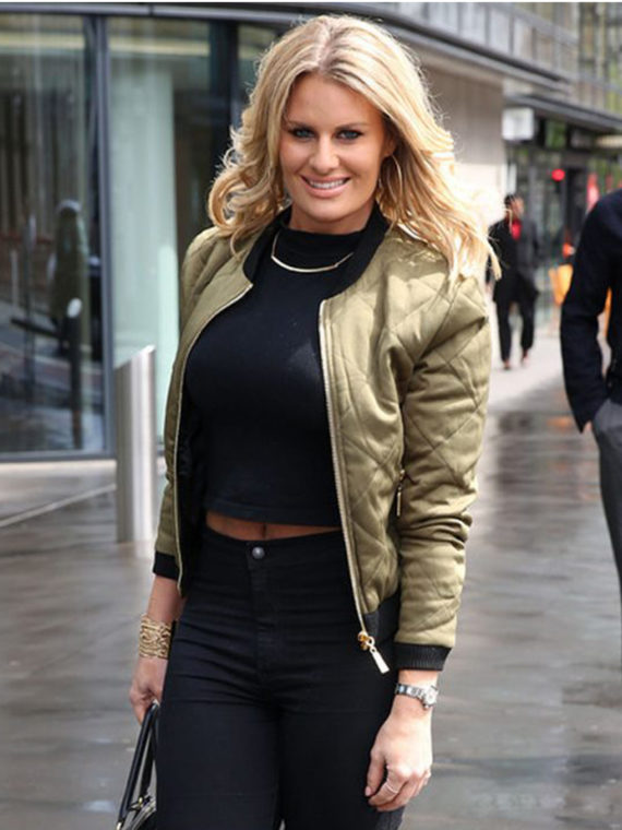 Danielle Armstrong Dressing in Satin Jacket