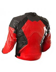 Deadpool Costume Red and Black Motocycle Jacket