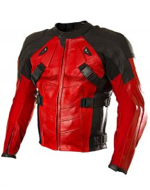Deadpool Ryan Reynolds Red Costume Biker Jacket