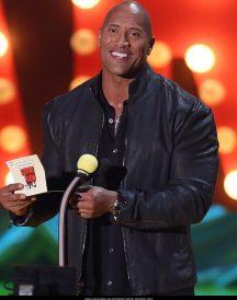 Dwayne Johnson Mark Wahlberg MTV Movie Awards Show 2015 Black Jackets