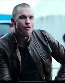 Ed-Skrein-Deadpool-Movie-2016-Ajax-Brown-Leather-Jacket