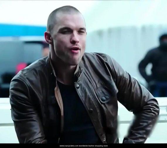 Ed-Skrein-Deadpool-Movie-2016-Ajax-Brown-Leather-Jacket