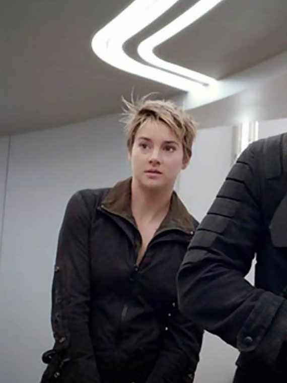 Insurgent 2015 Movie Shailene Woodley Leather Jacket