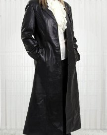 Margot Australian Movie Actress Robbie Leather Coat