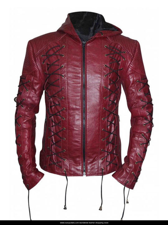 Roy Harper Arrow Season 3 Colton Haynes Arsenal Hoodie Jacket