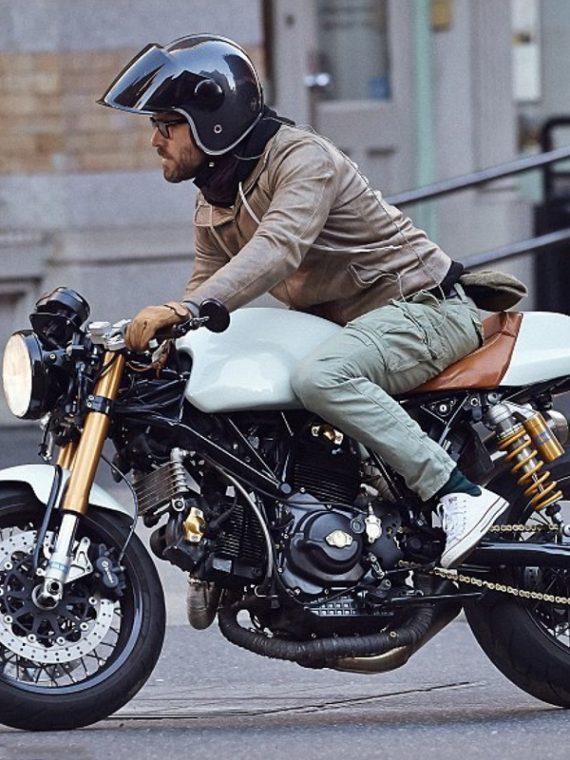 Ryan Reynolds Motorcycle Brown Jacket