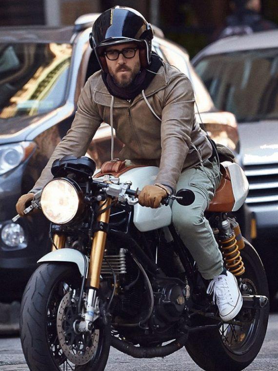 Ryan Reynolds Motorcycle Brown Jackets