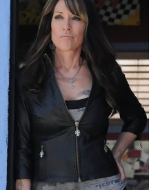 Sons of Anarchy Katey Sagal Black Biker Jacket
