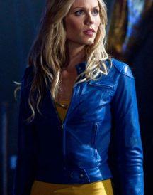 Supergirl Smallville Laura Vandervoort Blue Jacket