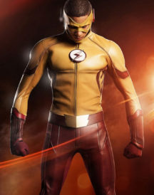 The Flash Wally West Yellow Leather Jacket