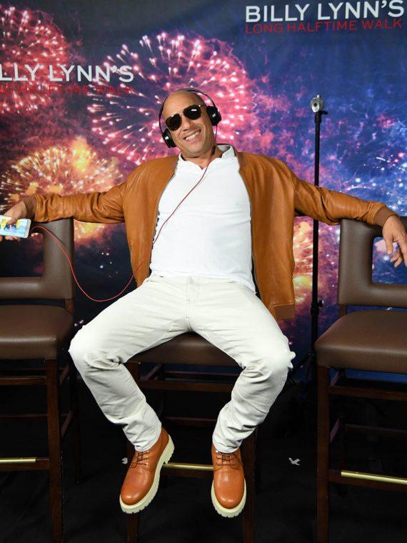 Vin Diesel Billy Lynn Long Halftime Walk Brown Jacket