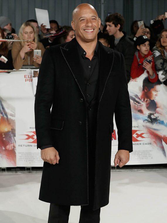 Vin Diesel Paramount xXx Return Xander 3 Premiere Black Coat