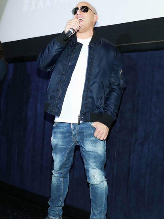 Vin Diesel xXx 3 LA Screening Navy Blue Jacket