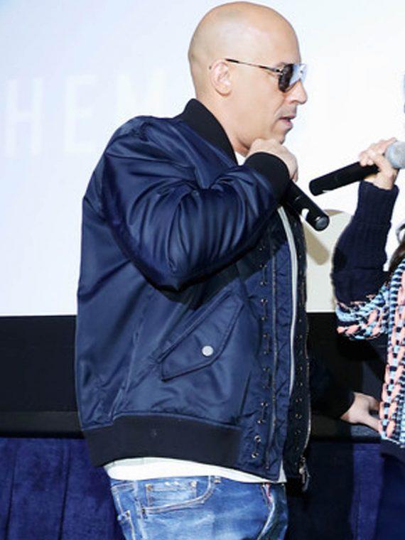Vin Diesel xXx 3 LA Screening Navy Blue Jackets