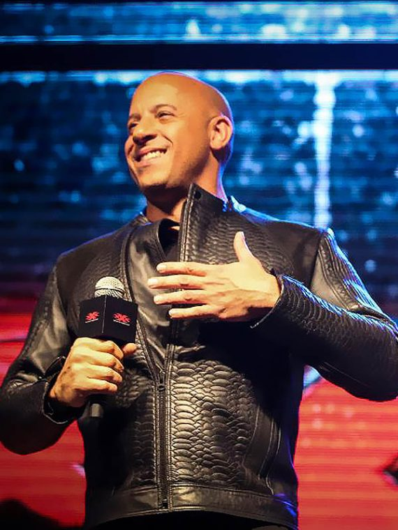 Vin Diesel xXx 3 Movie Premiere Crocodile Black Jacket