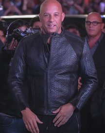 Vin Diesel xXx 3 Movie Premiere Crocodile Black Leather Jacket