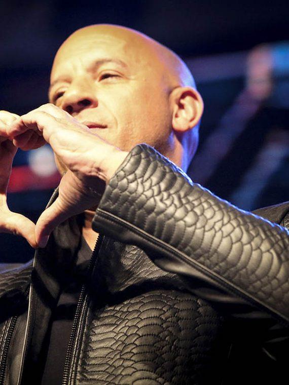 Vin Diesel xXx 3 Movie Premiere Crocodile Black Leather Jackets