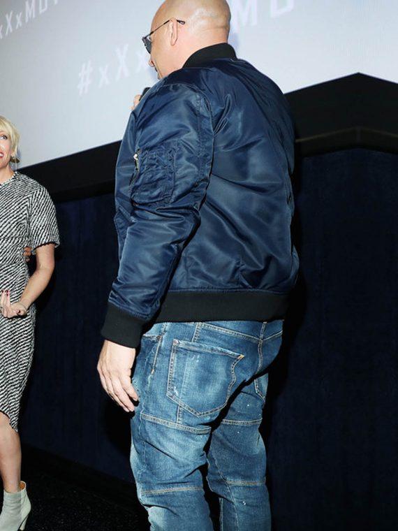 Vin Diesel xXx Return Xander Cage 3 LA Screening Jackets