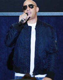 Vin Diesel xXx Return Xander Cage 3 LA Screening Navy Blue Jacket