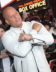 Vin Diesel xXx Return Xander Cage LA Premiere Paramount White Jackets