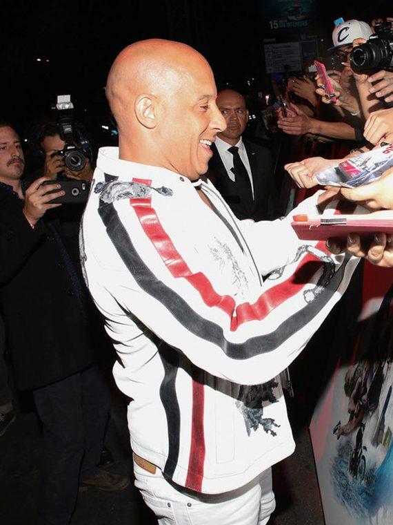 Vin Diesel xXx Return Xander Cage World Premiere White Jacket