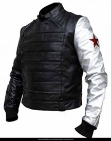 Winter Soldier Bucky Barnes Jackets With Silver Sleeve