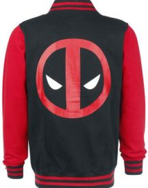 Red Black Varsity Style Deadpool Jacket