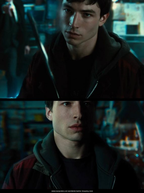 Barry Allen The Flash Red Check Hooded Coat