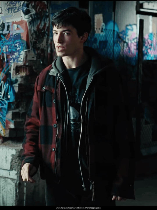 Barry Allen The Flash Red Check Hooded Jacket