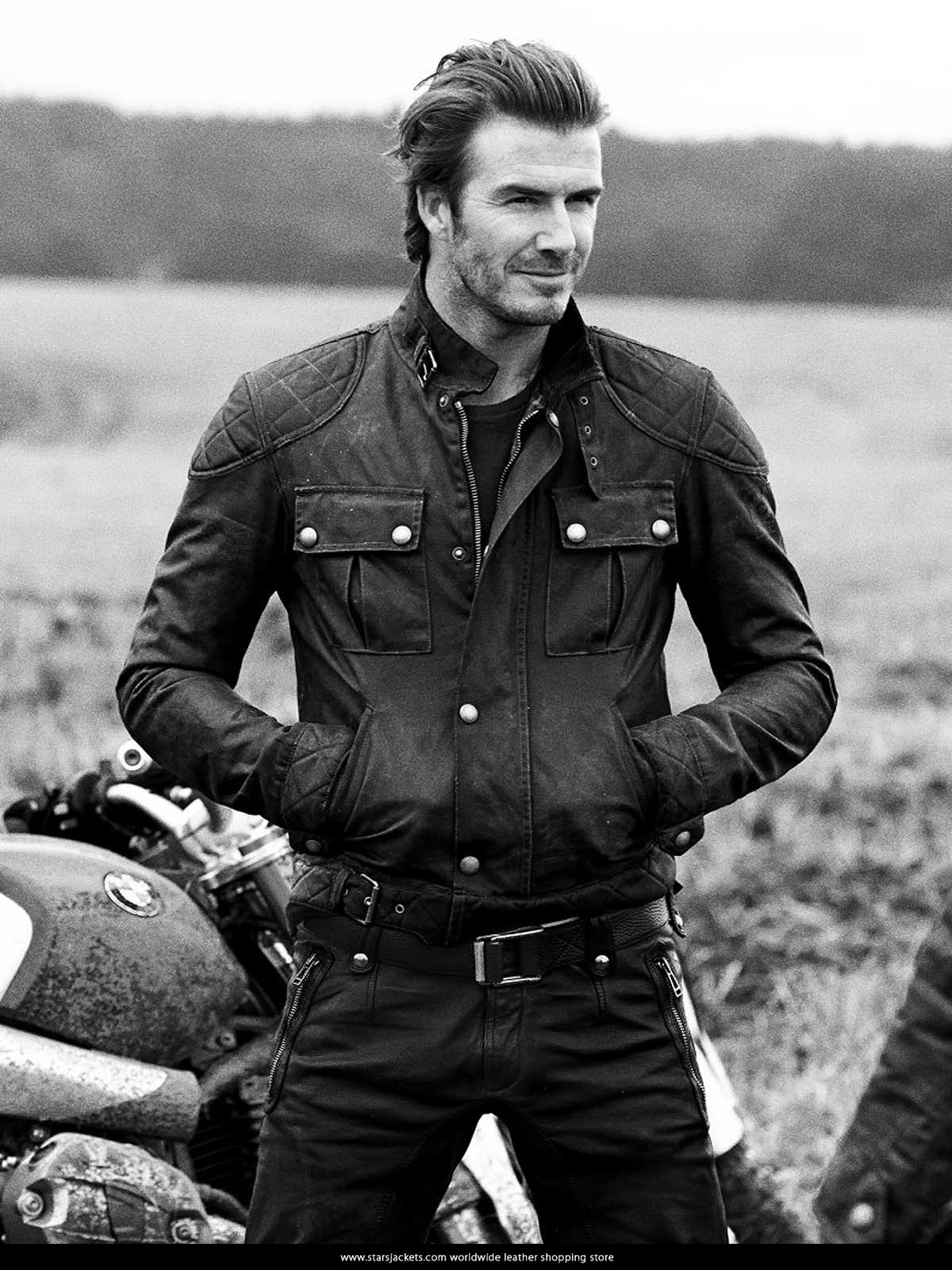 complete range of articles cheapest price special for shoe David Beckham Steve Mcqueen Leather Jacket