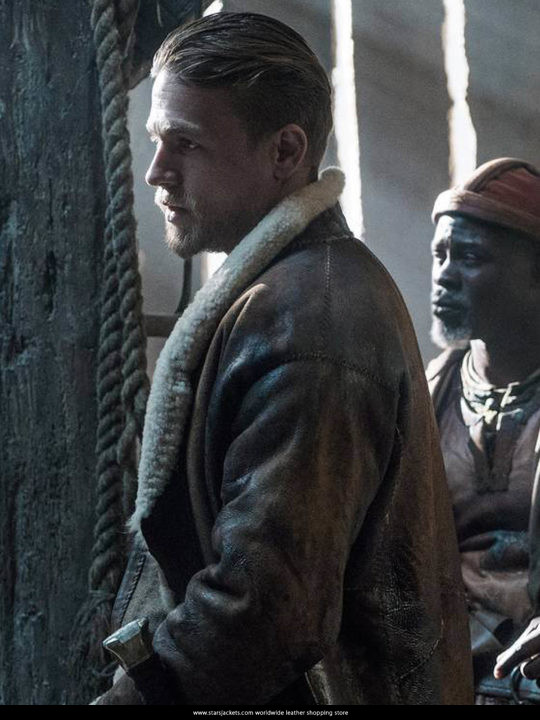 King Arthur Charlie Hunnam Fur Coat